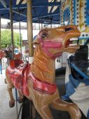 Horse Close Up At A Merry Go Round.