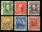 Vintage uns Briefmarken (1902)