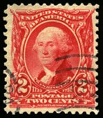 Vintage Us Postage Stamp Of President Washington (1902)