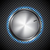 stock photo of musical scale  - Volume knob on circular grid - JPG