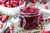 Portion Of Cranberry Jam