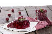 Raspberry Jello On White