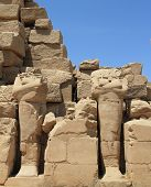 beheaded statues of Karnak Temple, Egypt
