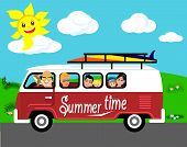 Summer vacation trip