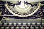 Close Up Vintage Portable Typewriter