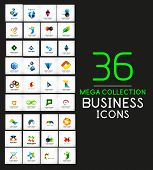 Mega collection of vector business icons - corporate designes