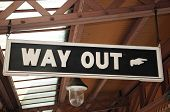 Way out sign, Moor Street Railway Station.