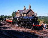 British Railways steam train, Highley.