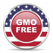 gmo free american icon, usa flag
