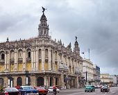 HAVANA- JANUARY 27:Great Theater of Havana and street January 27 2013 in Old Havana Cuba