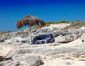 sunshades on Cayo Largo's island Cuba