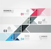 Modern Design Minimal Style Infographic Template / Can Be Used For Infographics / Numbered Banners /