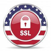 ssl american icon, usa flag
