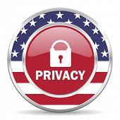 privacy american icon, usa flag