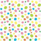 Kids Colorful Brush Stroke Seamless Pattern