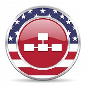 database american icon, usa flag