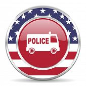 police american icon, usa flag