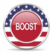 boost american icon, usa flag