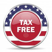 tax free american icon, usa flag
