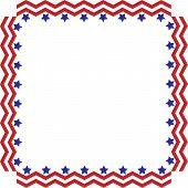 Chevron Stars and Stripes border