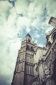 Tourism and travel.Cathedral of Toledo, imperial city. Spain