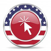 click here american icon, usa flag
