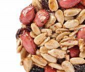 Honey bar with peanuts sunflower seeds