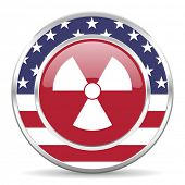 radiation american icon, usa flag