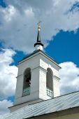 Russian Church Bell Tower Against Summer Sky.
