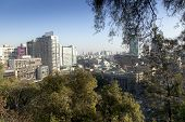 City viewed from Santa Lucia Hill, Santiago, Chile