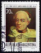 Postage Stamp Argentina 1974 Brother Justo Santa Maria De Oro