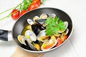 Sea Fruit Fried In The Pan