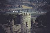 City wall of Toledo, Spanish imperial city famous for its huge history