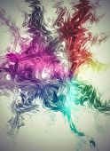 Mesh, Creative design background, fractal styles with color design