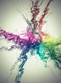 Network, Creative design background, fractal styles with color design