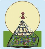 A Lot Of People Of Different Sexes Are Fighting For First Place In The Pyramid Of Life.