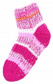 Woolen socks, isolated on white