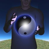 Man with Yin Yang Sphere