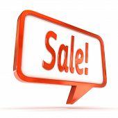 Speech Bubble Sale