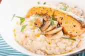 salmon truffle mushroom risotto