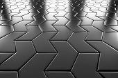 Steel Arrow Blocks Flooring Perspective View