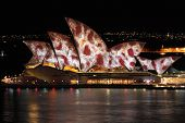 Sydney, Nsw, Australia - June 2, 2014;  Sydney Opera House During Sydney Vivid Festival Event