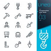 Construction and Tools outline icons