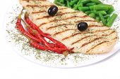 foto of pangasius  - Grilled pangasius fillet on plate - JPG