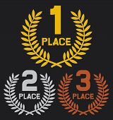 first place second place and third place