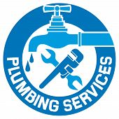 stock photo of plumbing  - repair plumbing symbol vector illustration on white background - JPG