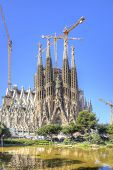 Barcelona. Temple Of Sagrada Familia. Facade Of Nativity