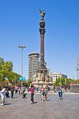 Barcelona. Monument To Christopher Columbus