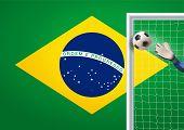 soccer goal in brazil