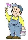 Worker house painter